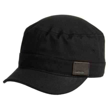 Military Cadet Cap (For Men) in Black - Closeouts