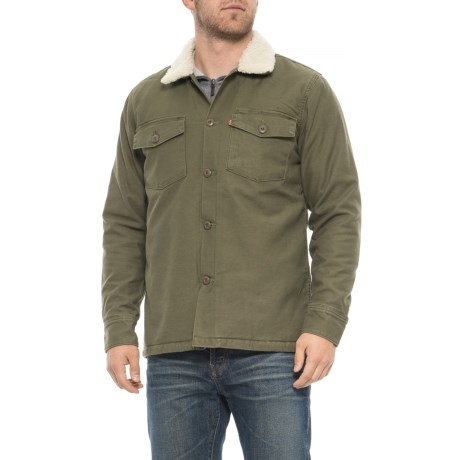 Levi s Military Sherpa Shirt Jacket (For Men) - Save 72% 8b4857d6edd7