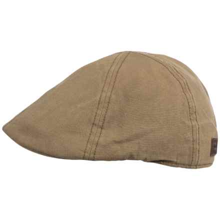 Oil Cloth Ivy Cap (For Men) in Olive - Closeouts