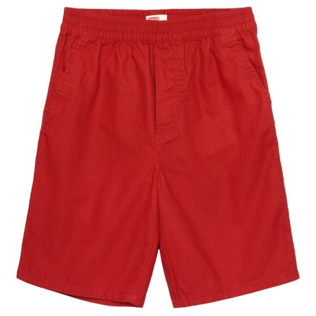 Levi's Pull-On Ripstop Shorts (For Big Boys) in Pompeian Red