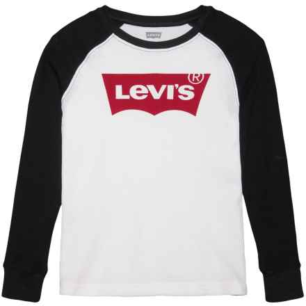 Levi's Raglan Thermal Shirt - Long Sleeve (For Big Boys) in Black Beauty - Closeouts