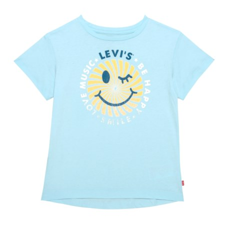 Levi's Smiley Graphic T-Shirt - Short Sleeve (For Big Girls) in Omphalodes
