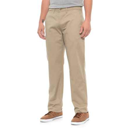 Straight True Chino Twill Pants (For Men) in Khaki - Closeouts