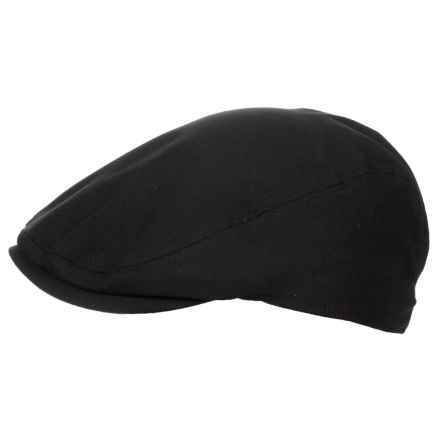 Stretch Flat Top Ivy Cap (For Men) in Black - Closeouts