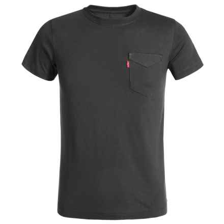 Levi's Sunset Pocket T-Shirt - Short Sleeve (For Big Boys) in Charcoal - Closeouts