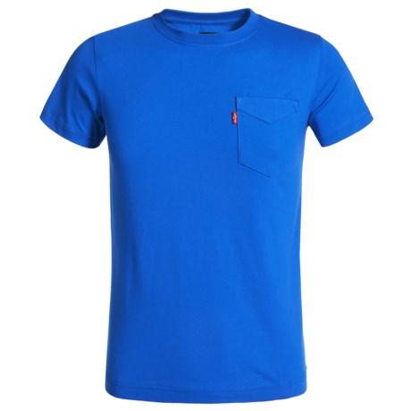 Levi's Sunset Pocket T-Shirt - Short Sleeve (For Big Boys) in Strong Blue