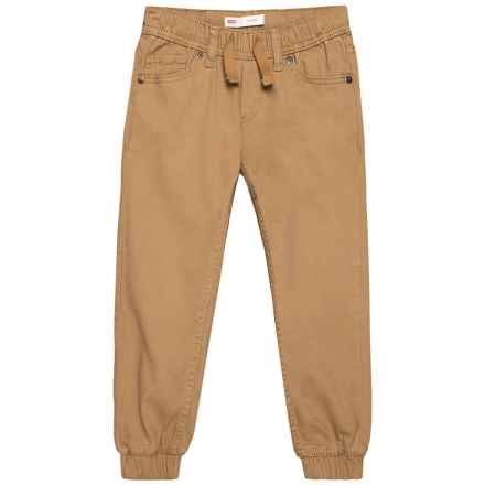 Twill Joggers (For Little Boys) in Dijon - Closeouts