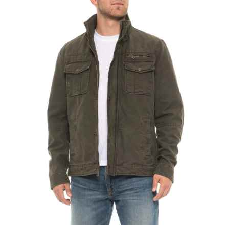 Two-Pocket Military Jacket - Insulated (For Men) in Olive - Closeouts