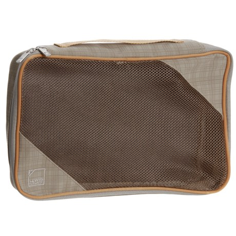 Lewis N Clark 1560 Packing Cube - Medium in Taupe/Pumpkin