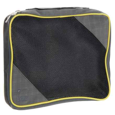 Lewis N Clark 1562 Packing Cube - Large in Charcoal/Yellow - Closeouts