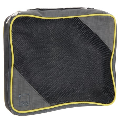 Lewis N Clark 1562 Packing Cube - Large in Charcoal/Yellow