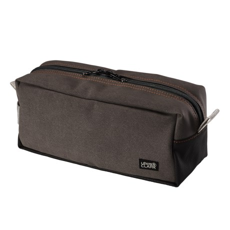 Lewis N Clark Brushed Twill Toiletry Kit in Charcoal