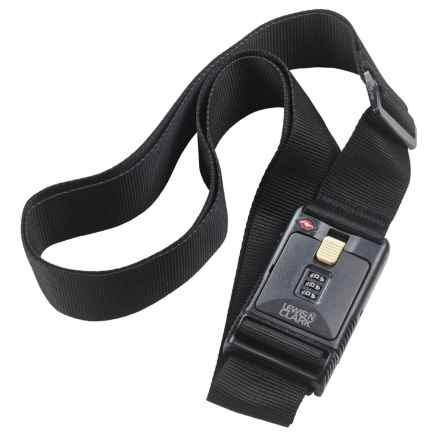 Lewis N Clark Combination Lock Travel Belt - TSA-Approved in Black - Closeouts