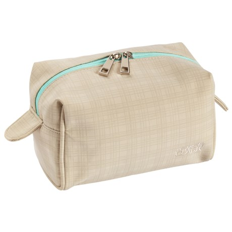 Lewis N Clark Cosmetic Case - Large in Beige/Mint