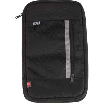 Lewis N Clark Deluxe RFID Document Organizer in Black - Closeouts