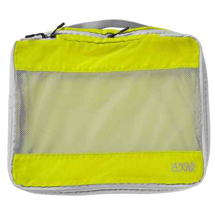 Lewis N Clark Electrolight Expandable Packing Cube - Large in Neon Lemon - Closeouts