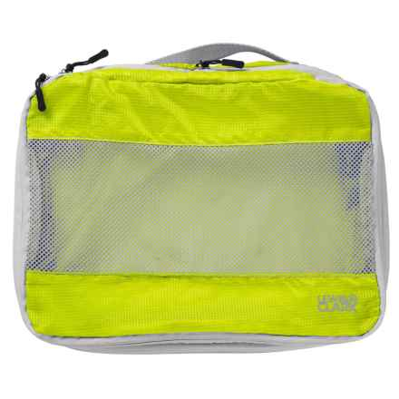 Lewis N Clark Electrolight Expandable Packing Cube - Medium in Neon Lemon - Closeouts