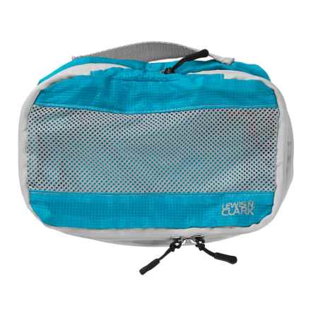 Lewis N Clark ElectroLight Expandable Packing Cube - Small in Bright Blue - Closeouts