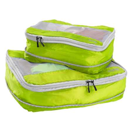 Lewis N Clark Electrolight Expandable Packing Cubes - 2-Pack, Medium and Large in Neon Lemon - Closeouts