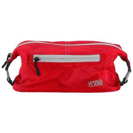 Lewis N Clark ElectroLight Toiletry Bag in Red - Closeouts