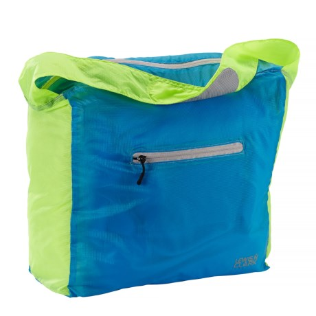 Lewis N Clark Electrolight Tote Bag in Neon Lemon/Bright Blue