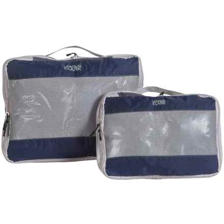 Lewis N Clark FeatherLight Expandable Packing Cubes - 2-Pack in Midnight Blue - Closeouts