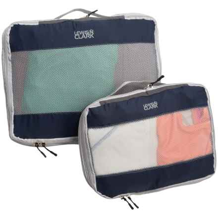 Lewis N Clark FeatherLight Expandable Packing Cubes - 2-Pack in Midnight - Closeouts