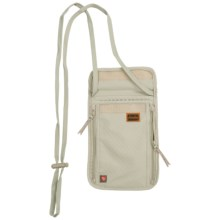Lewis N Clark Frontier Deluxe RFID Blocking Neck Stash Travel Wallet in Tan - Closeouts