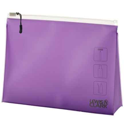 Lewis N Clark Frosted Toiletry Pouch in Purple - Closeouts
