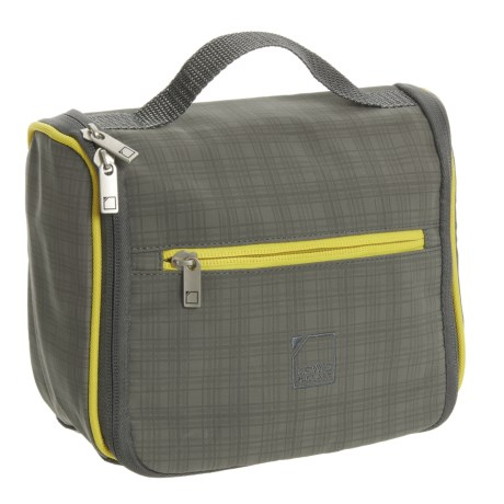 Lewis N Clark Hanging Toiletry Kit in Charcoal/Yellow
