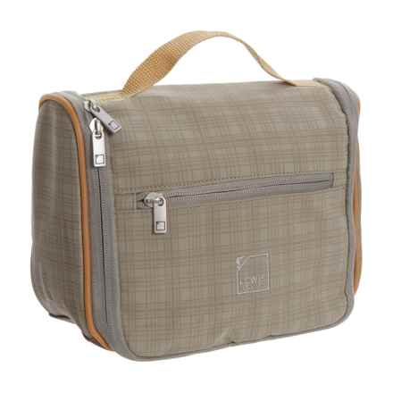 Lewis N Clark Hanging Toiletry Kit in Taupe/Pumpkin - Closeouts