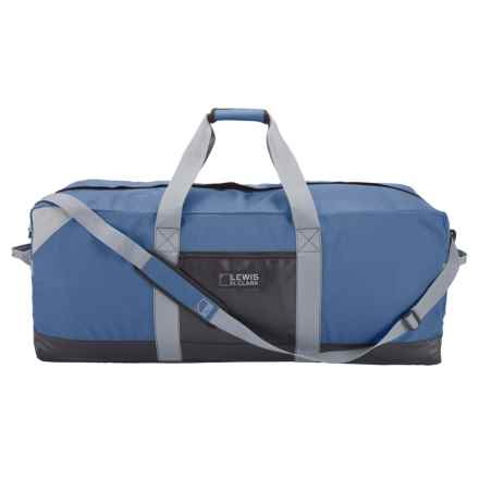 "Lewis N Clark Heavy-Duty 115L Duffel with Neoprene Gear Bag - 14x36x14"" in Blue - Closeouts"