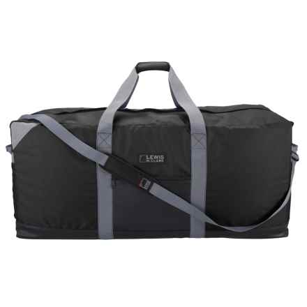 "Lewis N Clark Heavy-Duty 167L Duffel with Neoprene Gear Bag - 16x40x16"" in Black - Closeouts"