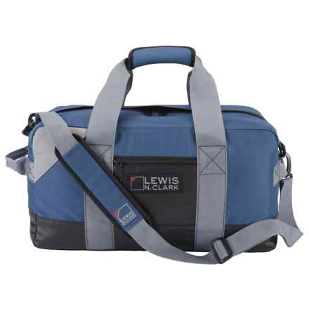"Lewis N Clark Heavy-Duty 18L Duffel with Neoprene Gear Bag - 10x18x10"" in Blue - Closeouts"