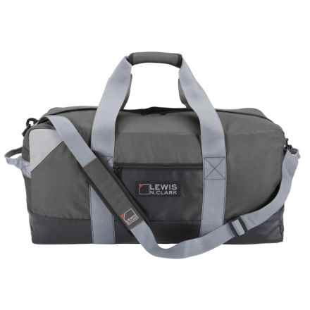 "Lewis N Clark Heavy-Duty 56L Duffel with Neoprene Gear Bag - 12x24x12"" in Dark Gray - Closeouts"
