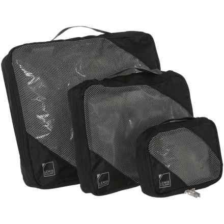 Lewis N Clark Packing Cube Set - 3-Pack in Black - Closeouts