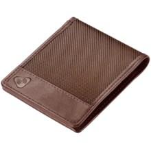 Lewis N. Clark RFID-Blocking Bi-Fold Wallet - Ballistic Nylon in Chocolate - Closeouts