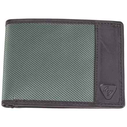 Lewis N. Clark RFID-Blocking Bi-Fold Wallet - Ballistic Nylon in Smoke - Closeouts