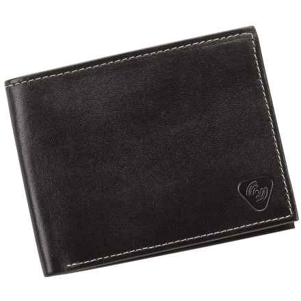 Lewis N. Clark RFID-Blocking Bi-Fold Wallet - Leather in Black - Closeouts