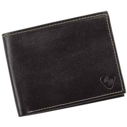 Lewis N. Clark RFID-Blocking Bi-Fold Wallet - Leather in Black - Closeouts