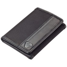 Lewis N. Clark RFID-Blocking Tri-Fold Wallet - Ballistic Nylon in Black - Closeouts