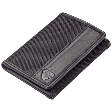 Lewis N. Clark RFID-Blocking Tri-Fold Wallet - Ballistic Nylon in Black