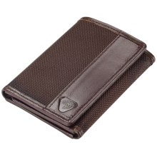 Lewis N. Clark RFID-Blocking Tri-Fold Wallet - Ballistic Nylon in Chocolate - Closeouts