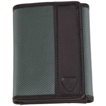 Lewis N. Clark RFID-Blocking Tri-Fold Wallet - Ballistic Nylon in Smoke - Closeouts