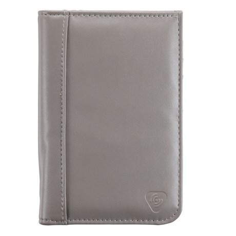 Lewis N Clark RFID Faux-Leather Passport Wallet in Gray
