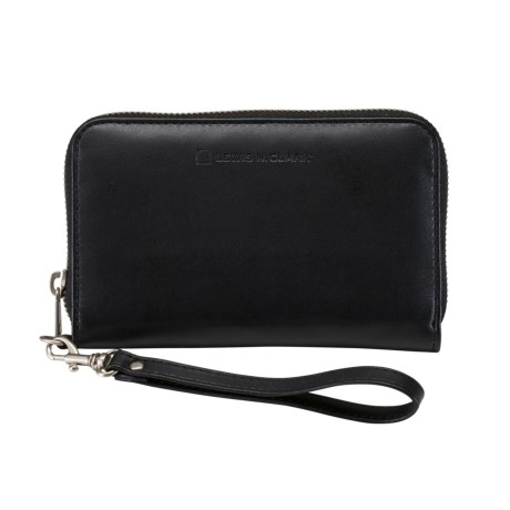 Lewis N Clark RFID Faux-Leather Wristlet in Black