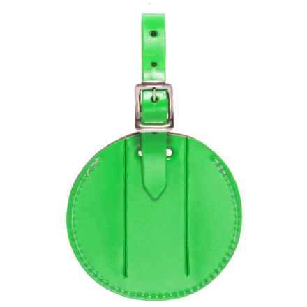 Lewis N Clark Round Neon Luggage Tag in Green - Closeouts