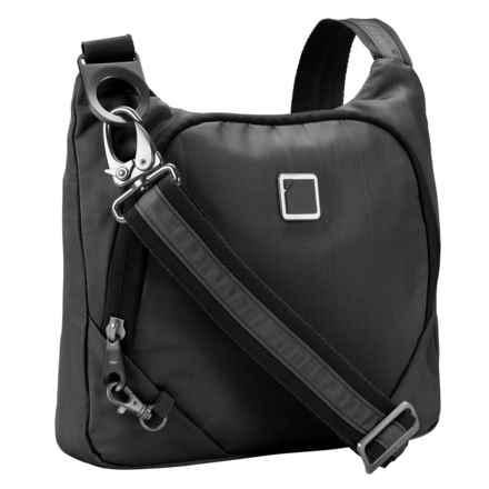 Lewis N Clark Secura Anti-Theft Crossbody Bag in Onyx - Closeouts