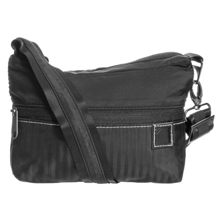 4a1b8c6400a4 Lewis N Clark Secura® Classic Series Anti-Theft Slim Crossbody Bag in Black  -