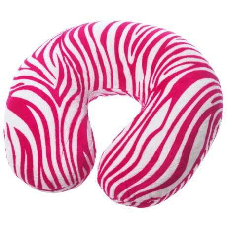 Lewis N Clark Ultimate Luxuries Travel Neck Pillow in Pink Zebra